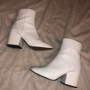 White Ankle Boots US 8/UK 6, leather